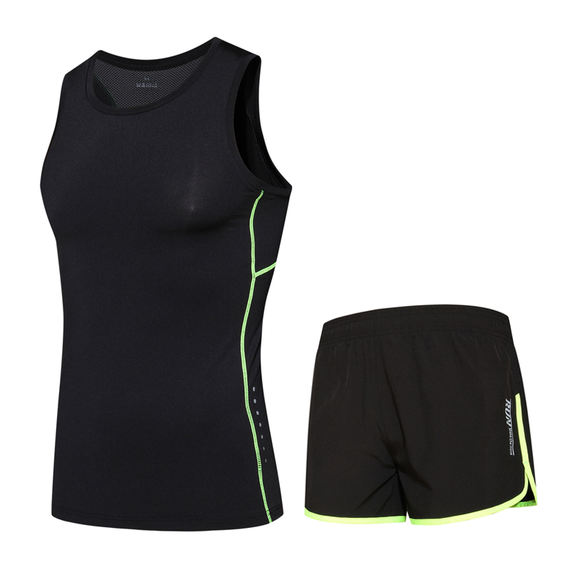 Tracksuit suit male marathon middle school tight-fitting sprint running vest shorts track and field sports training suit
