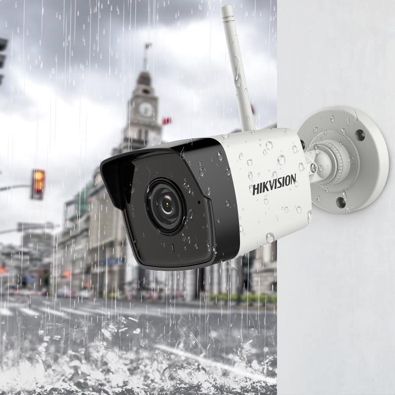 海康威视无线wifi家用可连手机监控器室外网络套装高清夜视摄像头