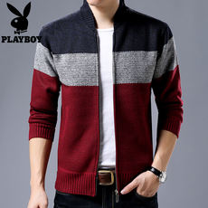 2018 spring and autumn new zipper cardigan men's knitted sweater jacket sweater jacket men's tide brand