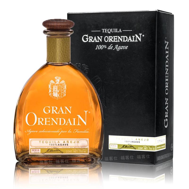 欧联达因珍藏陈酿龙舌兰酒750ml洋酒盒装GRAN ORENDAIN墨西哥