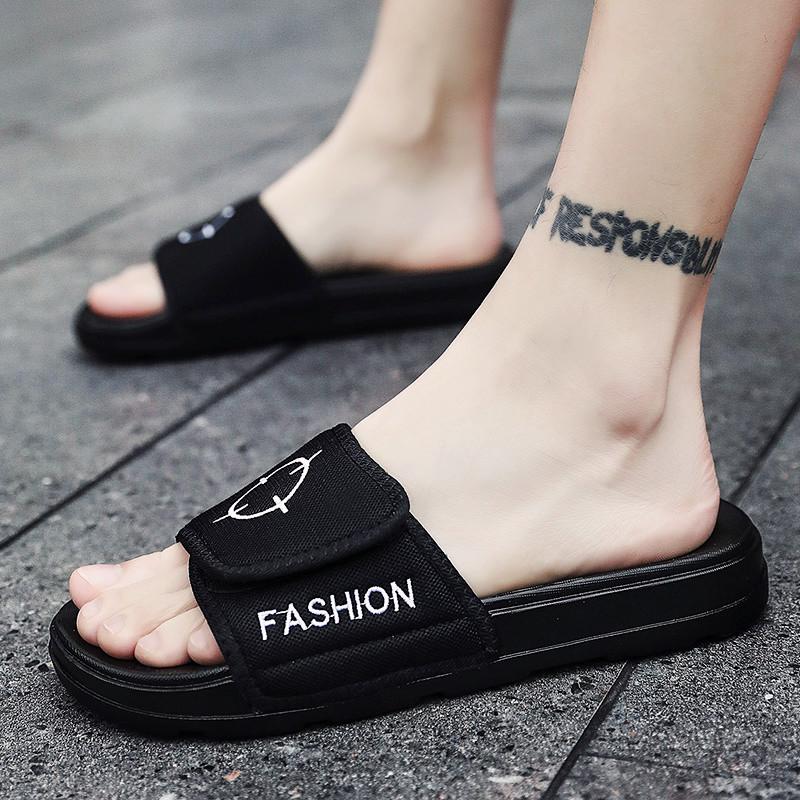 男士拖鞋夏季凉鞋男个性沙滩鞋2019新款凉拖鞋男潮流韩版一字拖男