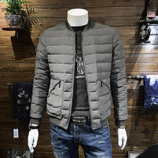 Anti-season clearance men's light down jacket trend Korean version of the self-cultivation collar short short youth handsome winter jacket male
