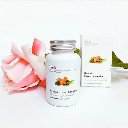 unichi美白丸玫瑰果精华胶囊澳洲淡斑维生素c胶原蛋白60粒/瓶