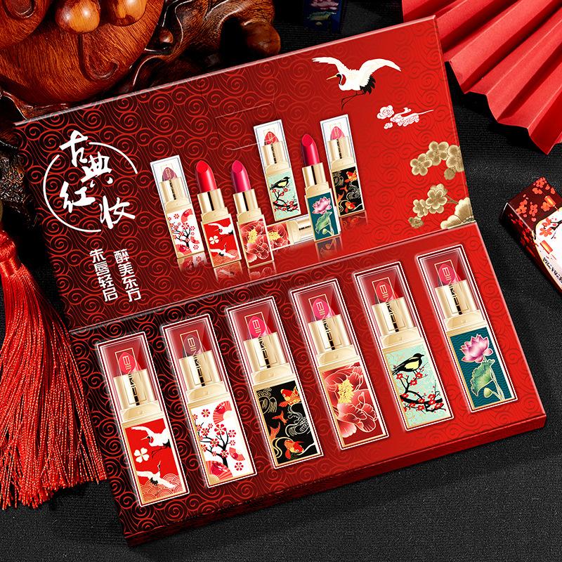 故宫口红套盒套装礼盒中国风仙鹤保湿文创上新了联名款限量版古风