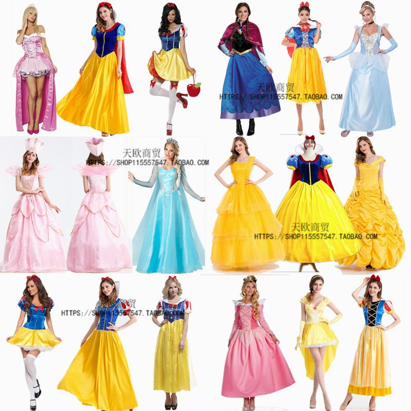圣诞节服装女公主**cosplay新款白雪公主**服化妆舞会连衣裙