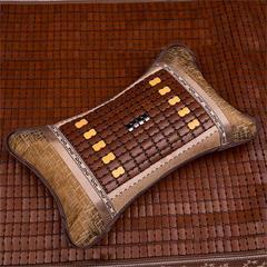 。枕头枕家居凉席垫竹丝腰靠竹凉席床上忱冰小型单人枕套头枕