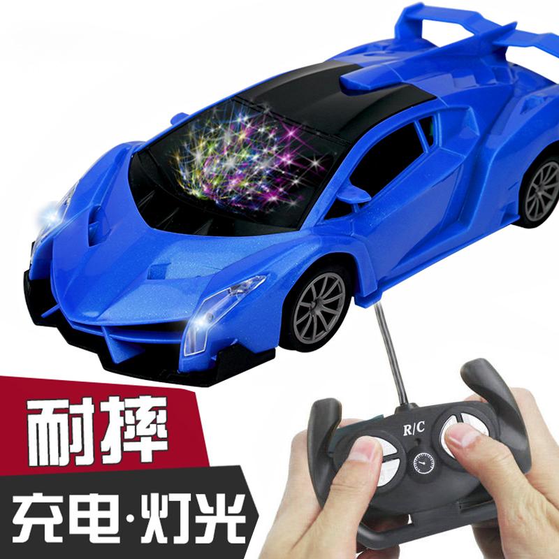 4轮方向盘车带超大漂移女孩汽车遥控玩具车 微小型 无线摇控男孩