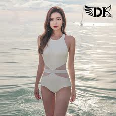 DK swimwear female 2019 new ins sexy conjoined small chest conservative gathering covered belly slim bikini
