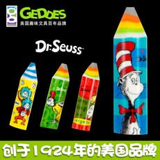 American geddes creative cartoon eraser Dr. Seus Drusse Crayon cute children rubber primary school students Environmental protection big skin school class encouragement prize stationery gifts