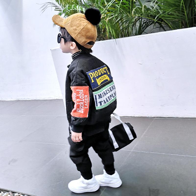男童加厚加绒外套2018韩版春秋装新款儿童夹棉宝宝加棉秋冬款棉衣