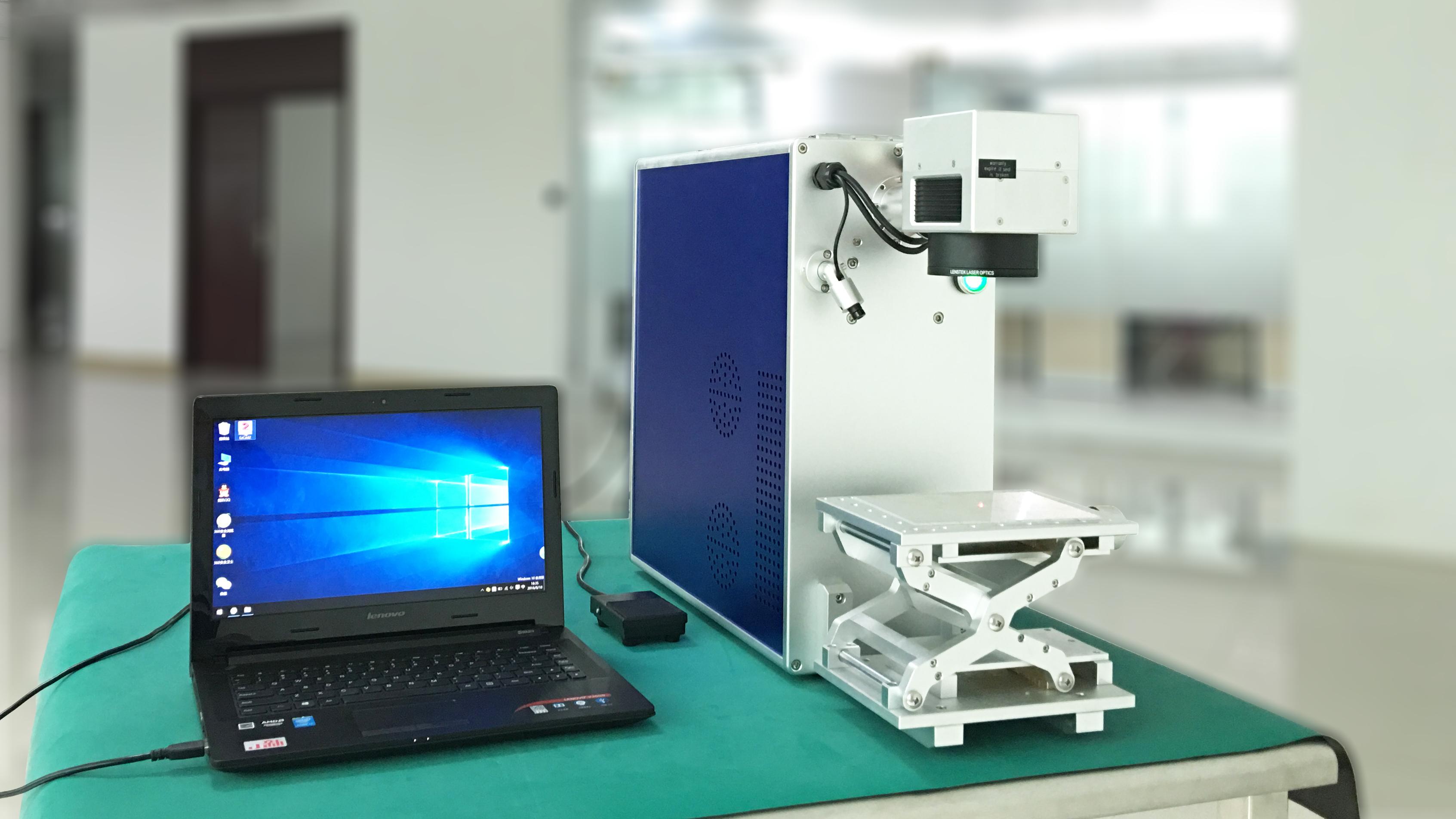 优米佳激光10w光纤激光打标机20w便携式手机外壳激光打标机打码机