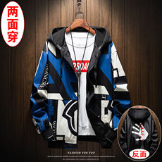 2019 new summer tooling jacket men's two sides wearing men's spring and autumn jacket Korean version of the trend of spring student scorpion