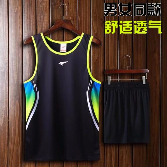 2018 new track suit suit male middle school sports examination sports training suit marathon running suit sleeveless