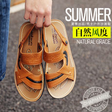 Sandals men summer 2018 new Korean breathable dual-use men's sandals and slippers non-slip platform casual sandals men