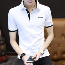 2018 summer new cotton men's Paul Polo shirt clothes Trendy body 桖 lapel short-sleeved t-shirt