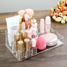 Acrylic lipstick box desktop transparent makeup rack vanity