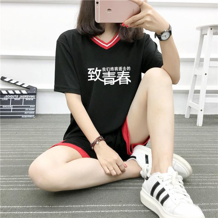 足球服女学生宽松韩版球衣套装光板定制儿童男女款运动训练服班服