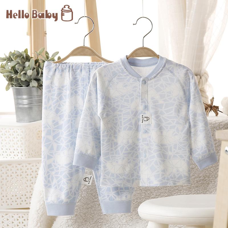 婴儿装亲子装儿童家居服家居服套装宝宝内衣套装纯棉6-12个月春装