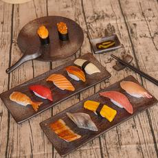Simulation food Sushi cuisine Salmon Squid shrimp Food model Showcase Cabinet display Furnishing Spot