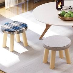 家用门口实木头圆形小凳子 时尚个性创意换鞋凳沙发凳矮凳YJD235