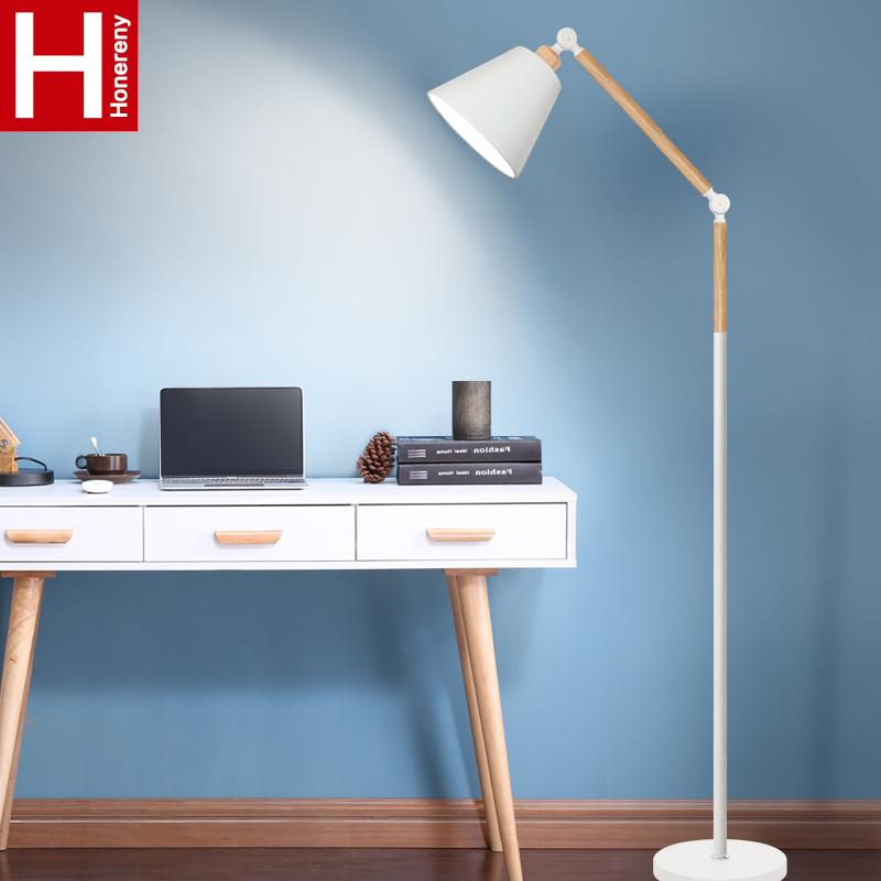 虹朗落地灯北欧客厅卧室宜家温馨书房创意个性简约现代立式台灯