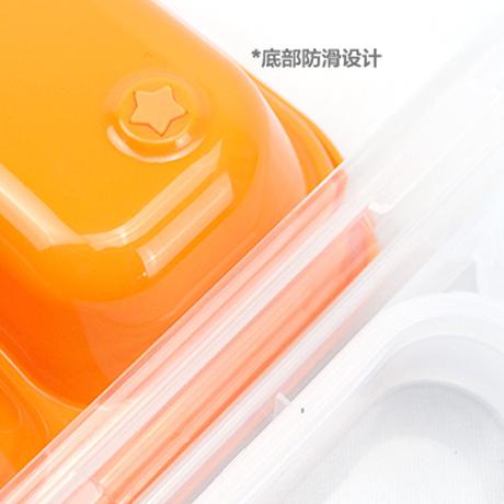 韩国米菲儿童餐具不锈钢餐盘套装 带勺叉 便当盒学生餐盒饭盒包邮