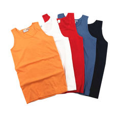 Six-color cotton base section micro-elastic cotton jersey vest Loose sleeveless solid color outside wearing vest