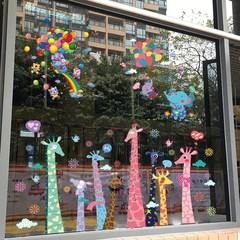 美术班墙面画室布置教室幼儿园门头设计贴玻璃门上的装饰贴画防水