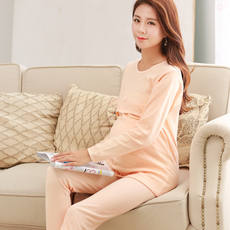Pregnant women autumn clothes long trousers set cotton stomach lift autumn pants autumn and winter breastfeeding clothes thickening month clothes 100 cotton