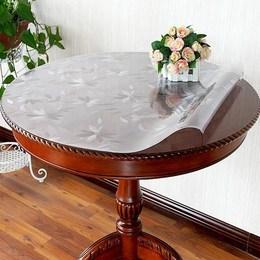 胶加厚圆形桌垫60CM圆桌布PVC防水油胶垫塑料桌面透明软板茶几垫