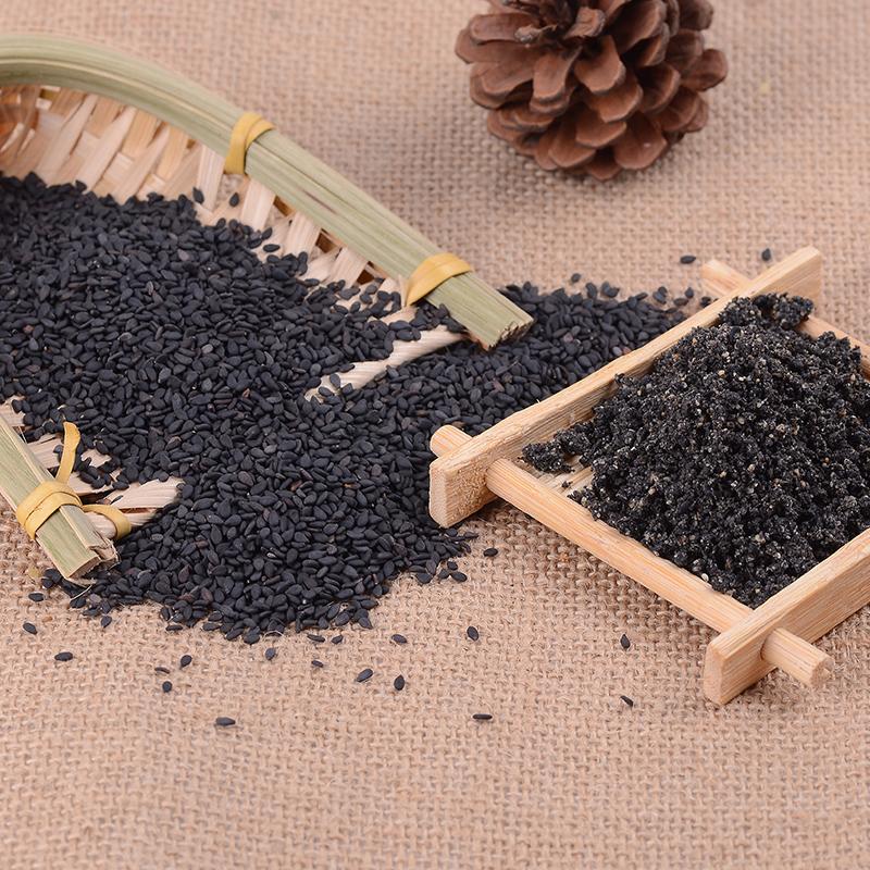 现买现磨熟黑芝麻粉原生态黑芝麻粉自磨即食芝麻粉德国人比较喜欢的糕点图片
