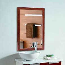 Simple modern bathroom mirror with frame toilet mirror toilet wash dressing half-length mirror wall hanging bathroom mirror