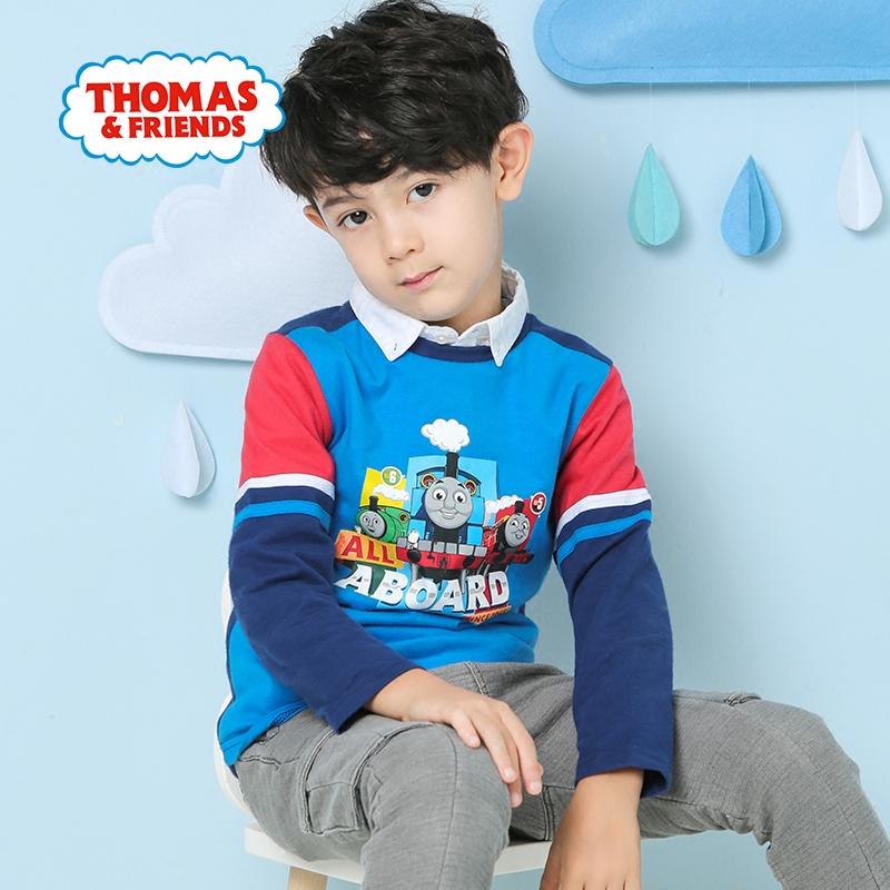 托马斯童装秋装男童打底衫春秋衫儿童长袖T恤纯棉上衣男