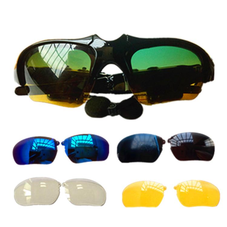 智能蓝牙眼镜片原厂鼻托可换镜片日夜两用黑色太阳镜黄色夜视镜片