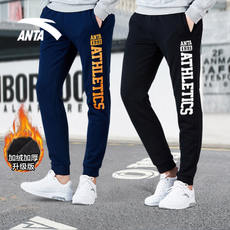 Anta men's 2018 winter new plus velvet thick warm closed mouth pants official authentic casual sweatpants