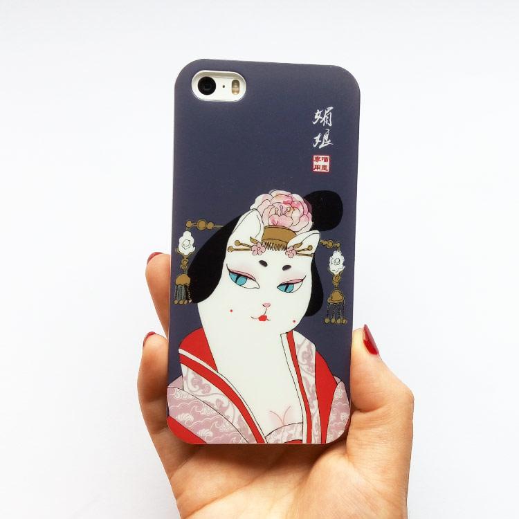 唐朝手绘插画媚娘iphone7splus手机壳苹果64s