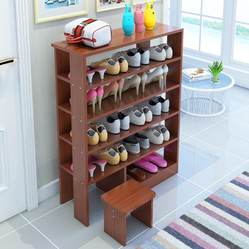 简易多层鞋架实木质家用鞋架鞋柜经济型收纳架子简约现代门厅柜