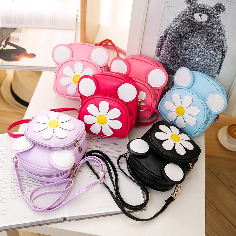 儿童包包女童斜挎包时尚公主包可爱雏菊花朵小女孩宝宝单肩包