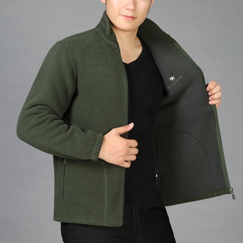 中年男士大码卫衣秋冬季加厚摇粒绒上衣爸爸装抓绒运动休闲外套