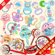 Baby toys 0-1 years old children's teeth rubber rattle 3-6-12 months newborn baby hand rattle teeth rubber toys