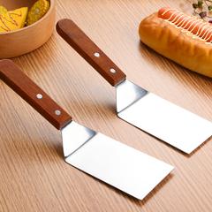料理铁板烧不锈钢牛排铲刀披萨生煎铲手抓饼工具三角铲煎饼铲子