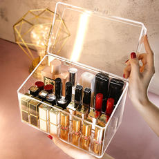 Net red cover lipstick storage box female small display stand multi-pack decoration cosmetics storage dust-proof lipstick box