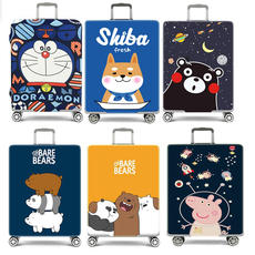 Creative cartoon thick elastic trolley case set luggage suitcase luggage cover protective cover 20/24/28 inch