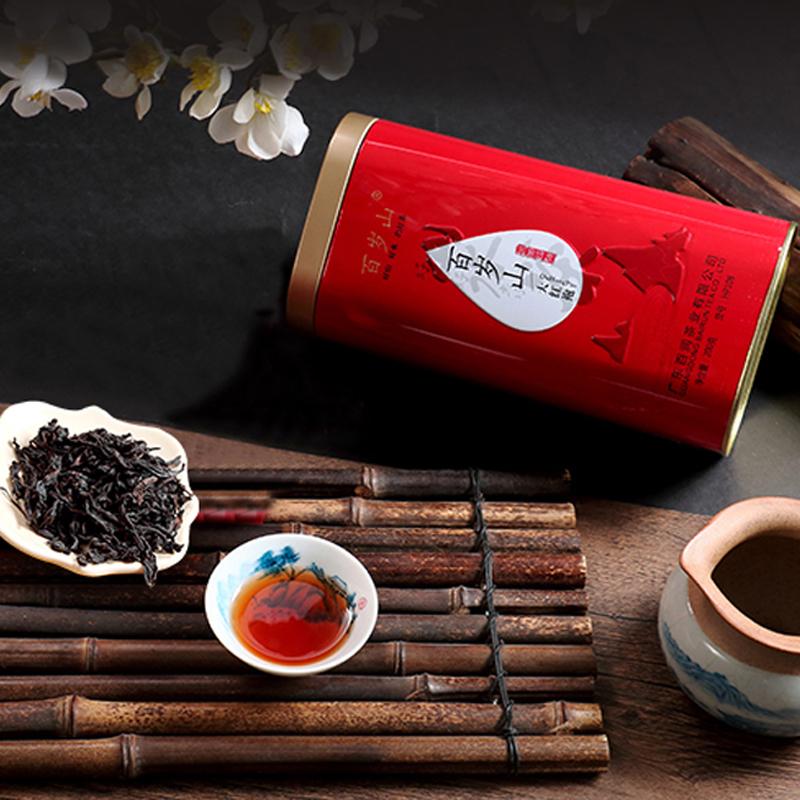 汕头馆 百岁山大红袍茶叶礼盒装200g 武夷岩茶乌龙茶春茶散装