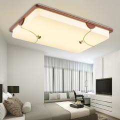 包邮新中式吸顶灯客厅长方形实木仿古典卧室书房现代中式餐厅灯具
