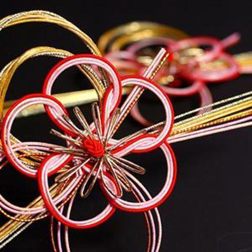 盛开的红梅日本水引线水引结风吕敷装饰配件日本传统结缘手工艺品