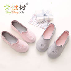 Moon shoes spring and autumn non-slip maternity slippers soft bottom bag with home slippers summer thin section indoor shoes maternal postpartum shoes