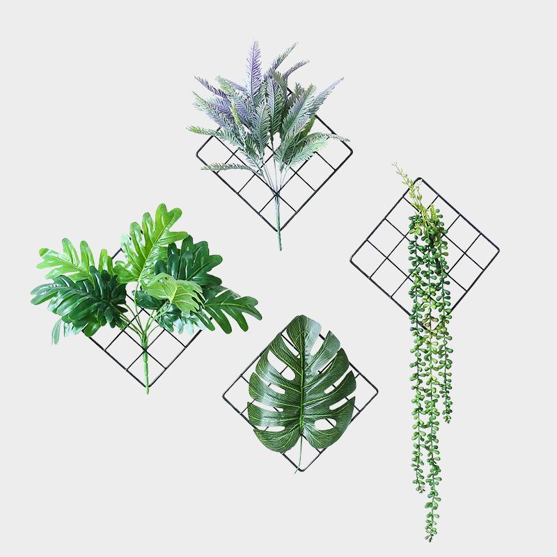 北欧风墙壁装饰客厅卧室墙面挂件绿色植物门上墙上ins家居装饰品图片