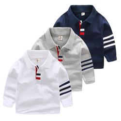 男童polo衫长袖新款小翻领长袖T恤2018春秋装新款韩版秋季Polo衫