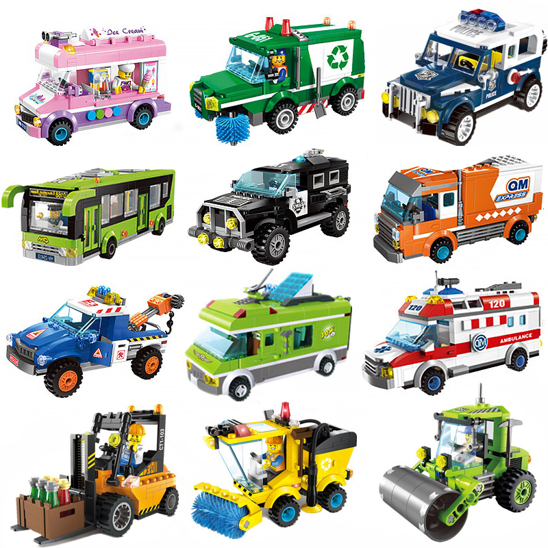 塑料益智玩具拼插乐高礼物拼装警车积木兼容衣服卡通5-8-12岁儿童芭比娃娃男孩模型图片